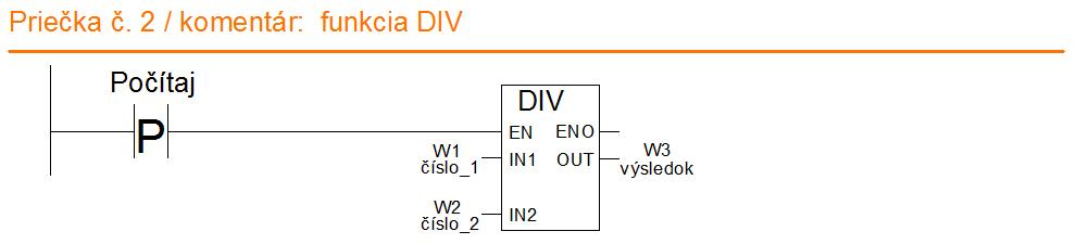 funkcia DIV