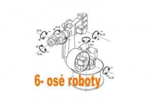 6 osé roboty