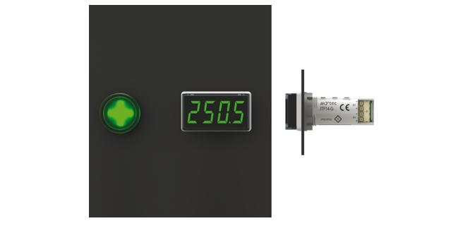 Univerzálny zobrazovač a zobrazovač teploty pre priemyselné procesy | AkYtec | ITP14-16